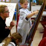 Jugendkunstschule in der Kita Quittenfrüchtchen