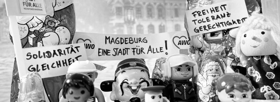 Demo vor dem Rathaus sw